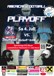 Playoff-Plakat